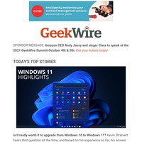 What to expect with Windows 11 | The demand for climate tech