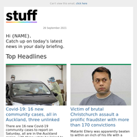 Covid-19: 16 new community cases, all in Auckland, three unlinked