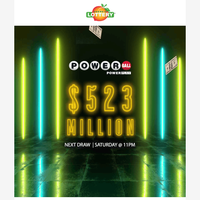 The 10th largest Powerball jackpot (if won)