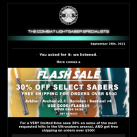 30% off Flash Sale starts TODAY!