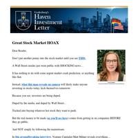 Great Stock Market HOAX