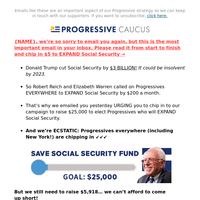 re: cuts to New York Social Security