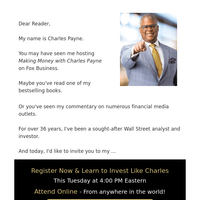 Free eTicket from Charles Payne inside