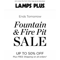 Last Chance! Fountains & Fire Pits on Sale!