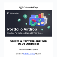 Create a Portfolio and Win USDT Airdrops!