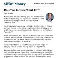"Smart Money: Does Your Portfolio ""Spark Joy""?"