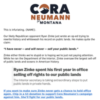 Outright lies from Ryan Zinke
