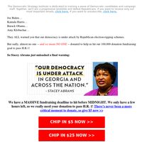 Stacey Abrams' FINAL warning