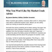 Why You Won't Like My Market Crash Advice