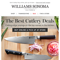 NEW cutlery savings from WÜSTHOF, SHUN, ZWILLING & more!