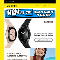 New at JB: Samsung Galaxy Watch4 - Available Now