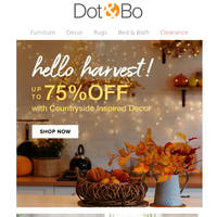 Hello Harvest! Save on Fall decor now!