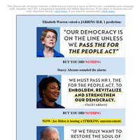 URGENT [Re: Joe Biden, Elizabeth Warren, Stacey Abrams]
