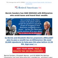 Bernie RIPS Elon Musk [Wealth Tax Petition]