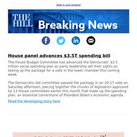 Breaking News: House panel advances $3.5T spending bill