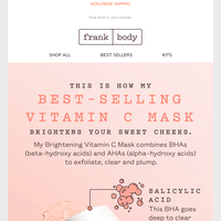 How my brightening face mask actually works