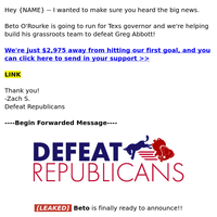 >> We need Beto to win!