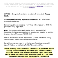 [HURRY!] The John Lewis Voting Rights Act is on the BRINK of collapse!