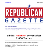"""Biblical """"Riddle"""" Solved After 2,000 Years..."""