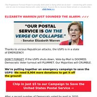 🚨  Elizabeth Warren Announced [U.S.P.S Crisis] >>