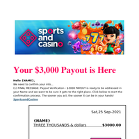 You havent redeemed your chip or $750 bonus!
