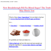 {NAME} This Blood Sugar Trick Will Keep Your Blood Sugar Normal - Try It Tonight!