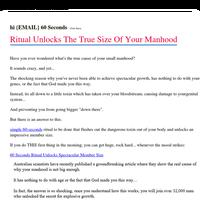 60 Seconds Ritual Unlocks The True Size Of Your Manhood
