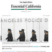 Essential California: COVID outbreaks in police, fire agencies