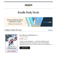 Don't miss out on today's Kindle book deals
