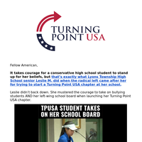 Conservative high school student fights back!