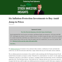 Stock Investor Insights: Six Inflation-Protection Investments to Buy Amid Jump in Prices