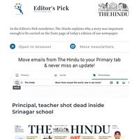 Editor's Pick: Principal, teacher shot dead inside Srinagar school