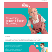 Exciting changes coming to Baby Bunting family!