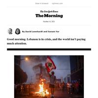 The Morning: Lebanon's crisis, rising prices, Selma Blair