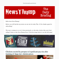Your NewsThump Daily Briefing for Thu, 14 Oct