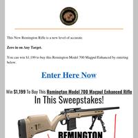 Remington Model 700 Sweepstakes