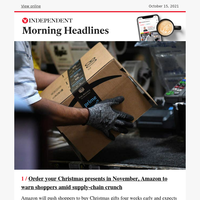 Amazon's push for earlier Christmas shopping amid supply-chain crisis