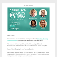 Speaker Announcement for Cargo Live: Discussing the Talent Challenge
