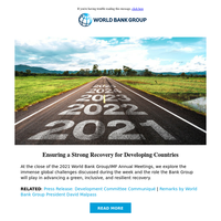 Ensuring a strong recovery for developing countries