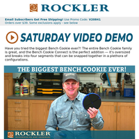 Video Demo: Our Biggest Bench Cookie Ever!