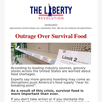 Outrage Over Survival Food