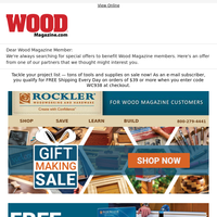It's Gift Making Season at Rockler – Save on Tools and Supplies!
