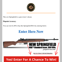 Springfield M1A Sweepstakes worth $1,499