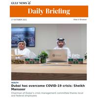 Dubai has overcome COVID-19 crisis: Sheikh Mansoor