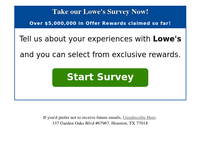 {NAME} Congrats! You've Been Selected For $50 Lowes Reward
