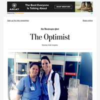 The Optimist: She's a medical student. Her mom is a custodian at the hospital where she trained.