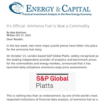 It's Official: Ammonia Fuel Is Now a Commodity