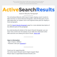 ASR Search Results Paragraph