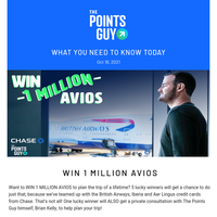 ✈ Chance to Win 1 Million Avios and More Daily News from TPG ✈