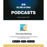 The latest Daily Briefings * Identity/Crisis * For Heaven's Sake * Good Faith Effort * IsraelCast * Times Will Tell
